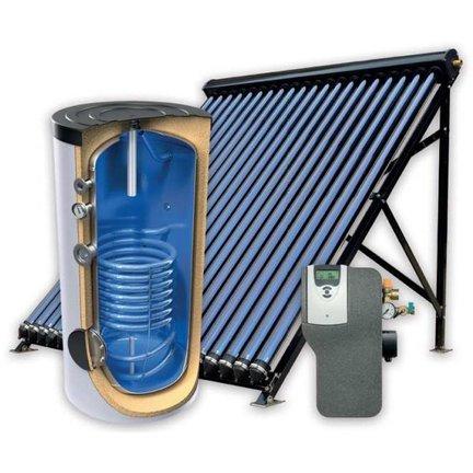 Complete set (boiler + collector) voor de ondersteuning van  verwarming en  tapwatersystemen