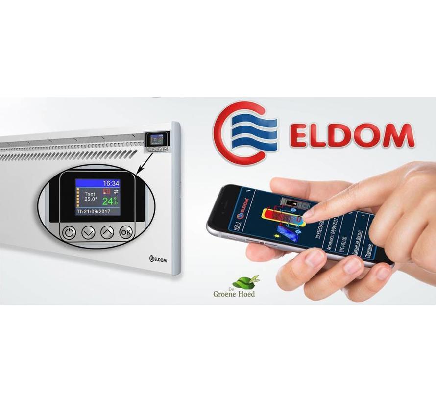 Eldom Extra Life 1,0 kW elektrische wandconvector met  wifi
