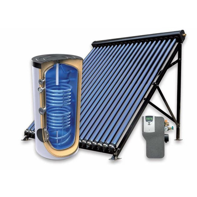TechniQ 200L zonneboiler-set voor verwarming en tapwater (24 HP)