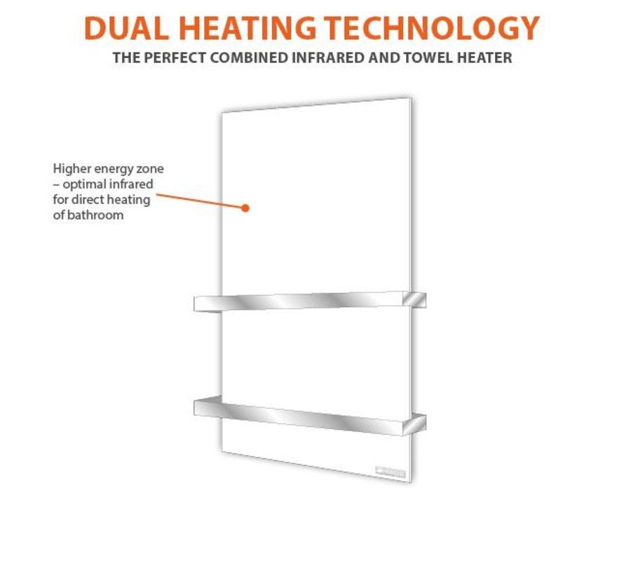 Thermisch infraroodpaneel met handdoekverwarming (500 Watt)