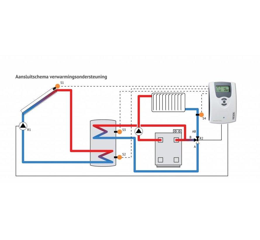 300L zonneboiler-set voor verwarming en tapwater (36 HP)