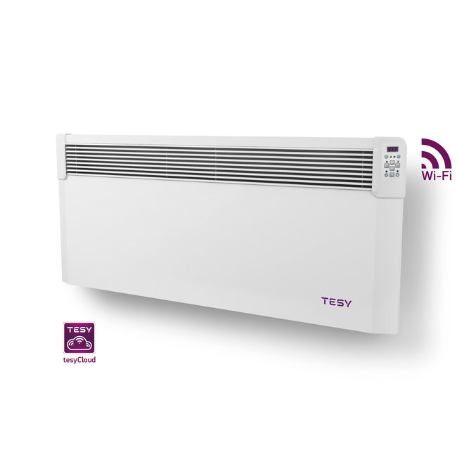 Tesy 2,5 kW elektrische wandconvector met  wifi  en app