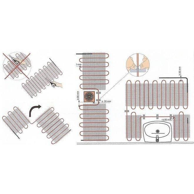 Complete 150 Watt mat set inclusief Warmup-4IE geavanceerde wifi thermostaat