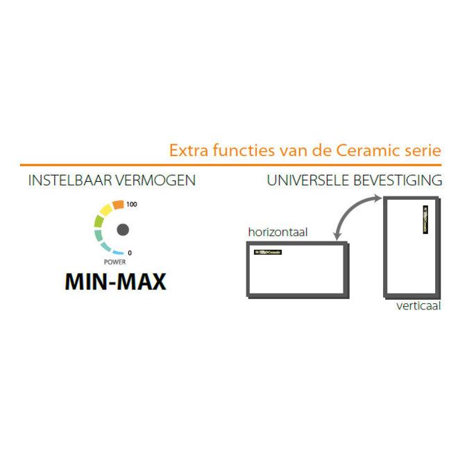 Ceramic+ Infrarood verwarmingspaneel - 500W