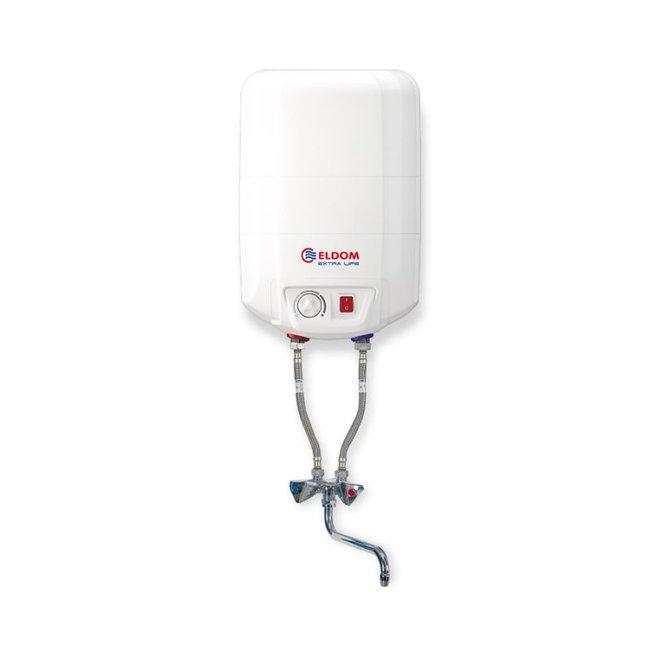 ELDOM Extra Life 10 liter boiler met mengkraan voor boven de wastafel