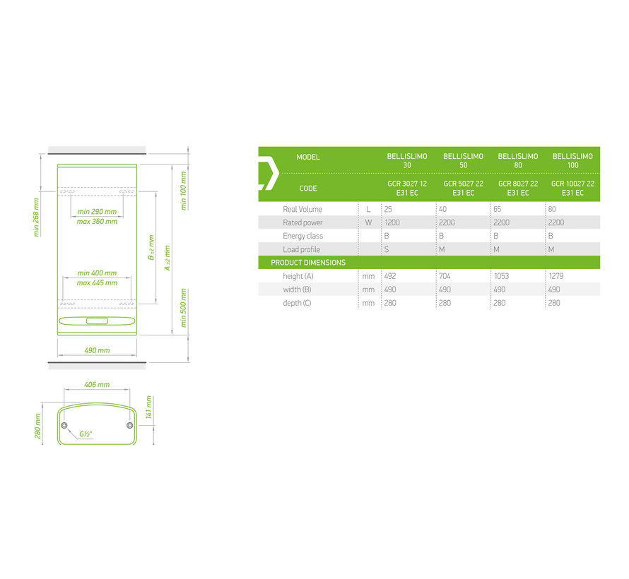 BelliSlimo 80 boiler design boiler