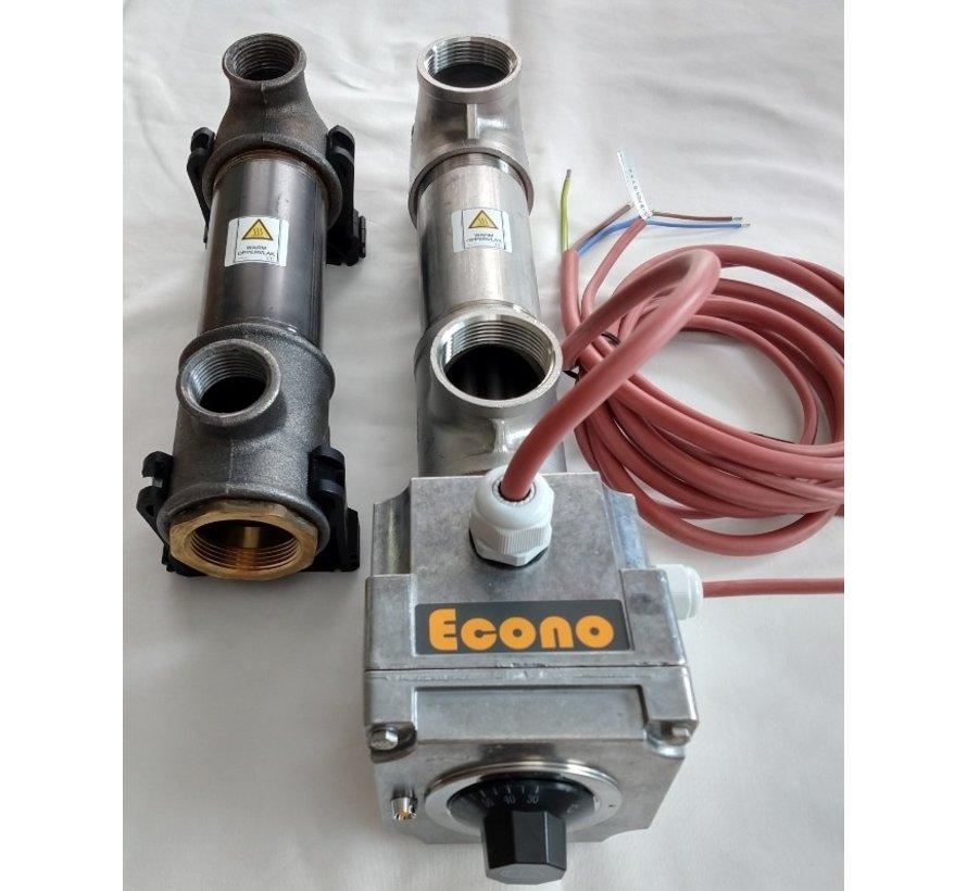 Doorstroomverwarmer 3 KW - met ingebouwde vermogensregelaar 0-10V DC aansturing