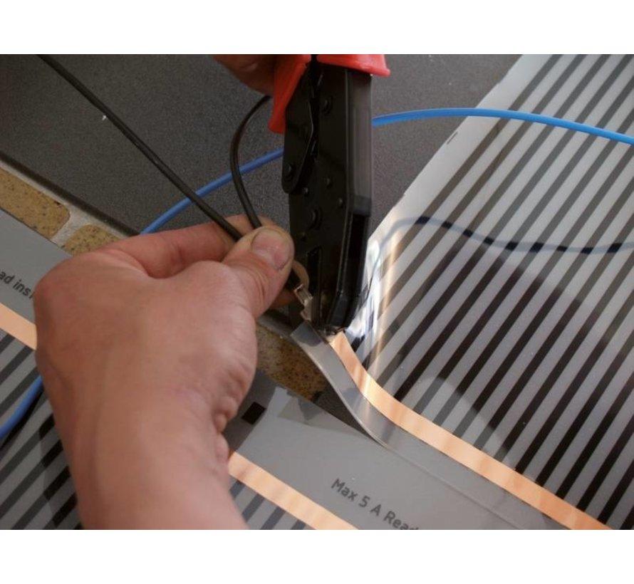 E-vloerverwarming folie set voor parket en laminaat, inc. touch screen thermostaat