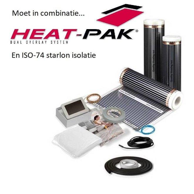 Elektrische vloerverwarmingset voor PVC, tapijt en vinyl incl. digi thermostaat