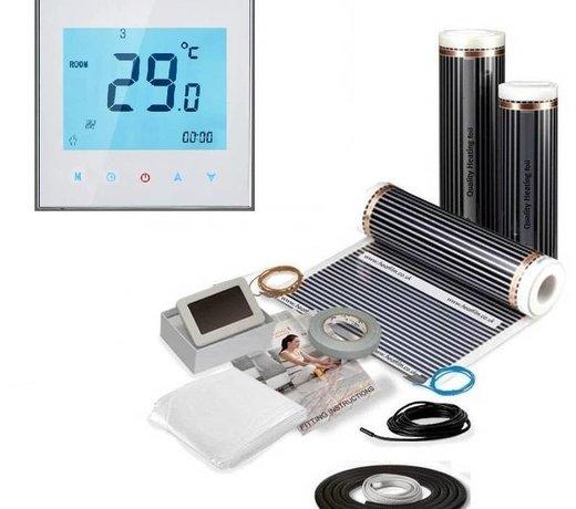Elektrische vloerverwarming voor hout, laminaat en parket