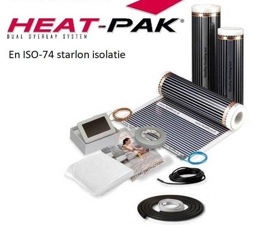Elektrische vloerverwarming voor vinyl, tapijt en PVC