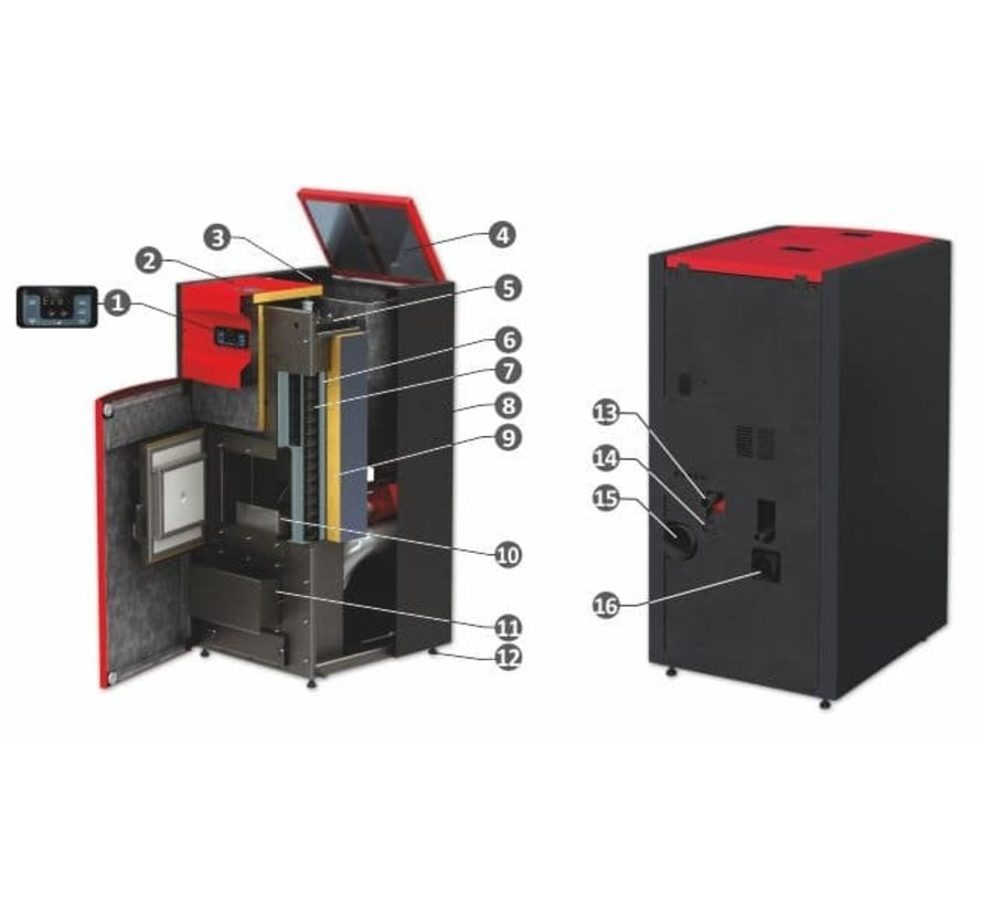 Pelletketel Pell Easy XL 35 kW