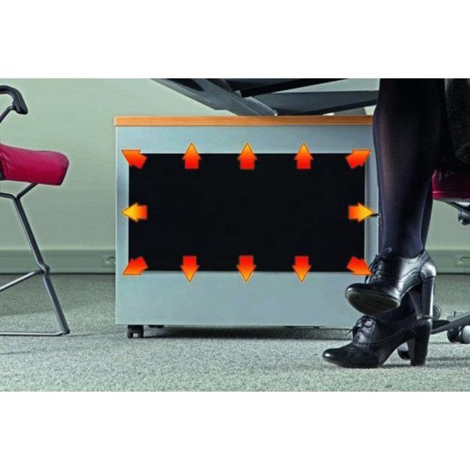 Dimbaar infrarood verwarmingsplaat voor onder het bureau (10-150W)