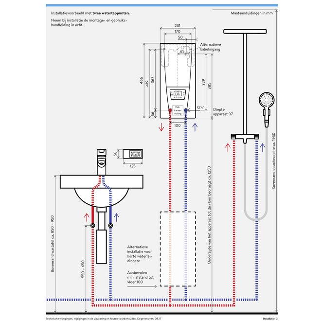 Elektrische instant heater DSX electronic