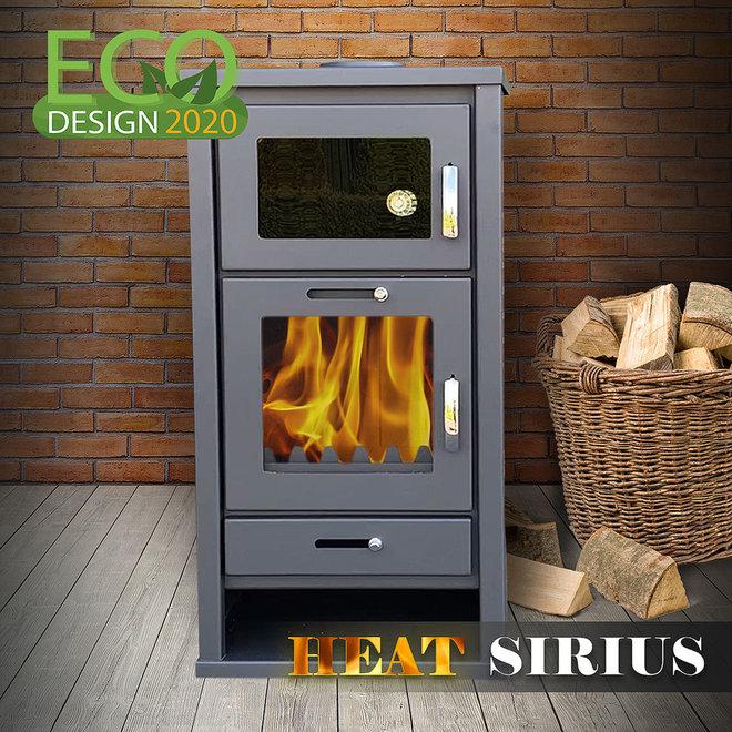 Heat Sirius  vrijstaande houtkachel met oven (11 kW)
