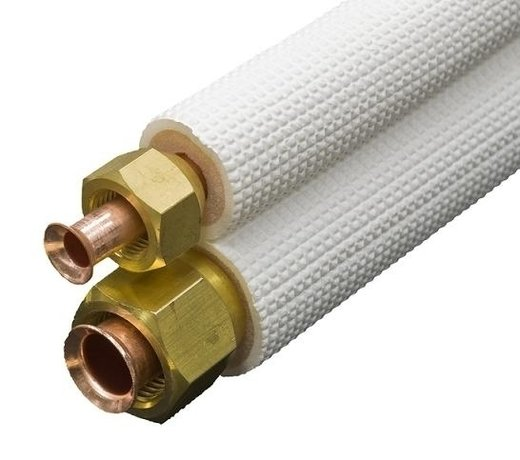 Installatiemateriaal voor de airco-warmtepomp