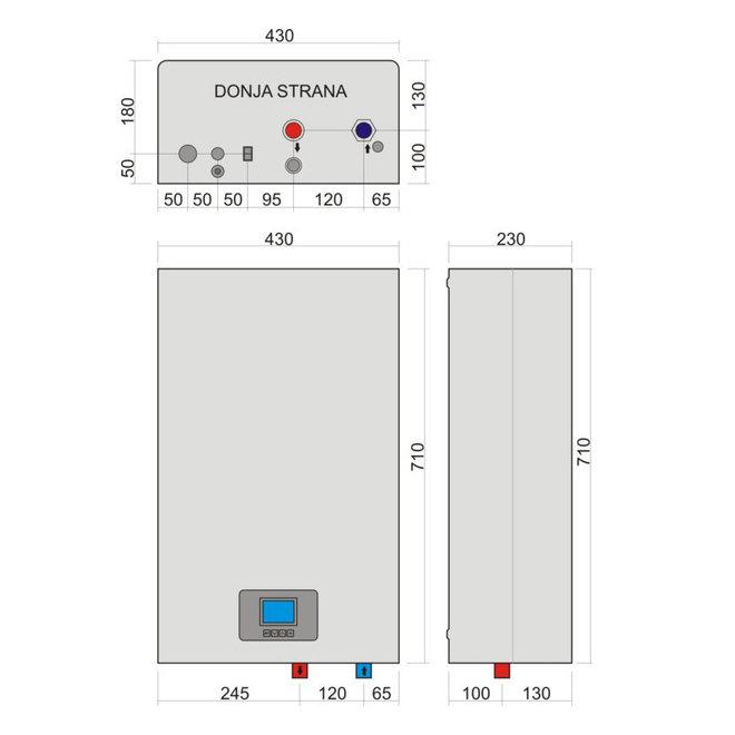 eTronic 7000, 9kW elektrische CV-ketel met CPU