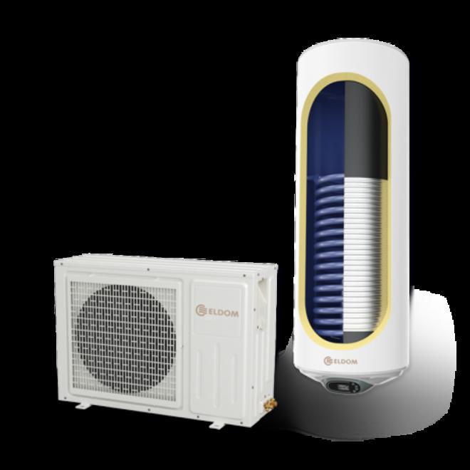 Lucht-water warmtepomp met extra warmtewisselaar, 120L, tapwater, KA16287