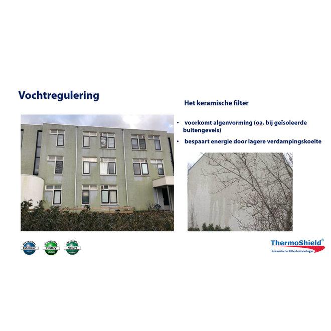 Exterieur - temperatuur- en vochtregulerende muurverf, 5 liter - Wit