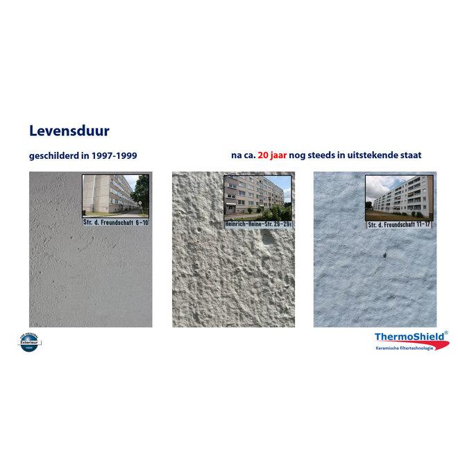 Exterieur - temperatuur- en vochtregulerende muurverf, 12,5 liter - Wit