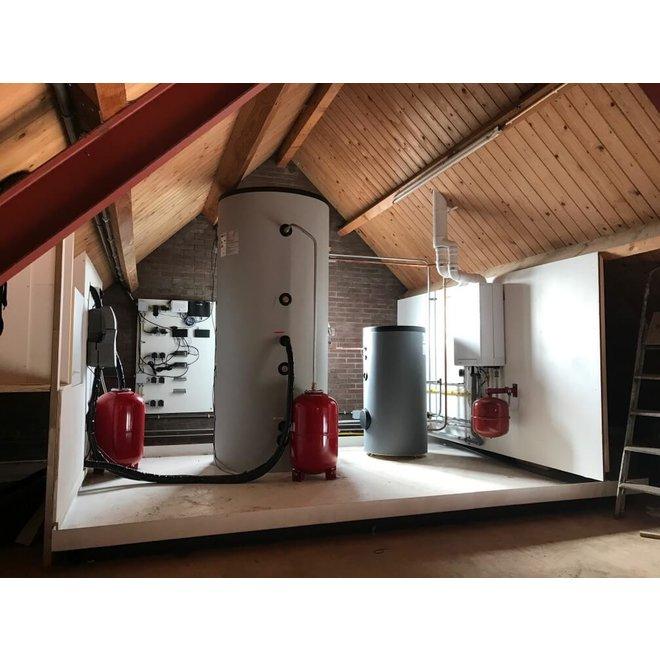 Recrasol  -  zonneboiler set (1000l vat - 120 Heat Pipes)