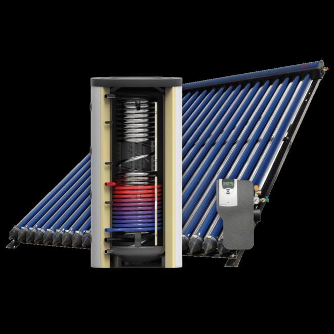 Recrasol  -  zonneboiler set (1500l vat - 180 Heat Pipes)