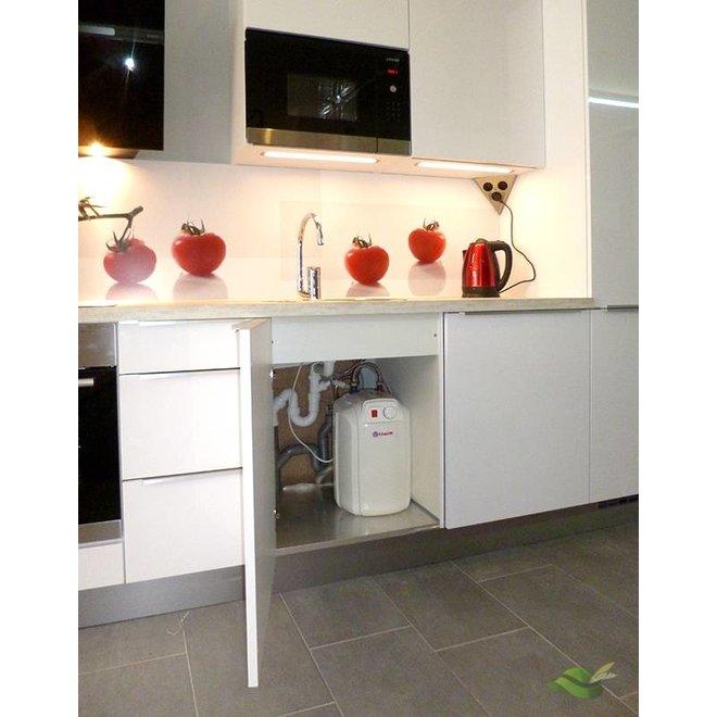 Keukenboiler, 10 liter, 2 kW, voor onder het aanrecht