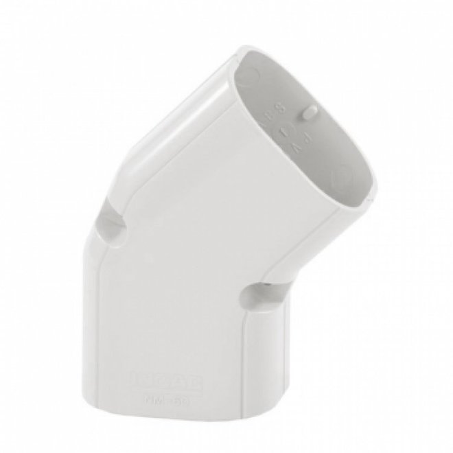 NM-75 platte bocht 45° (wit)