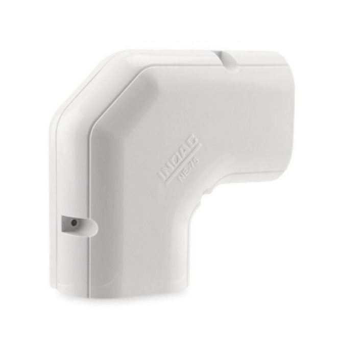 NH-75 platte korte bocht 90° (wit)