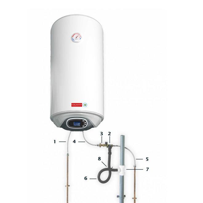 Verticale elektrische boiler 80L, 2kW, met digitale bediening - Brede uitvoering