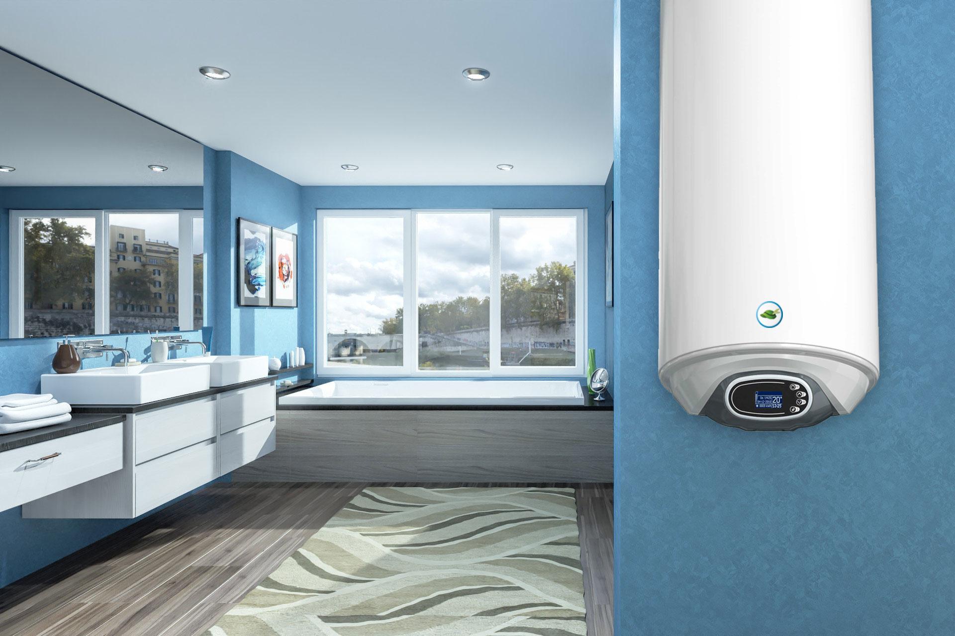 Galanta Green Hat Verticale elektrische boiler 120L, Extra Life, 3kW, met digitale bediening