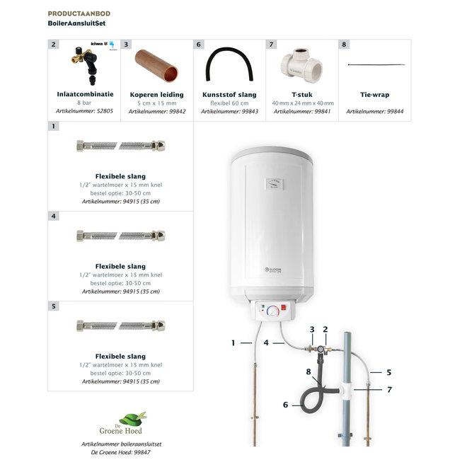 Universele aansluitset voor elektrische boilers