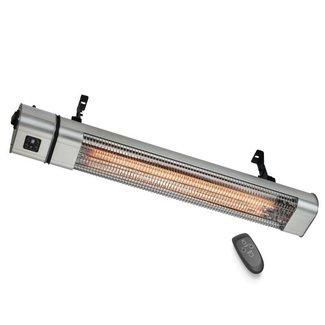 Quality heating Terras infrarood golden heater 2400Watt met afstandsbediening, vermogen instelbaar