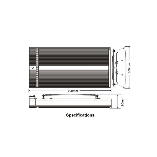 Inbouw infrarood heater 1650Watt QH16-18A