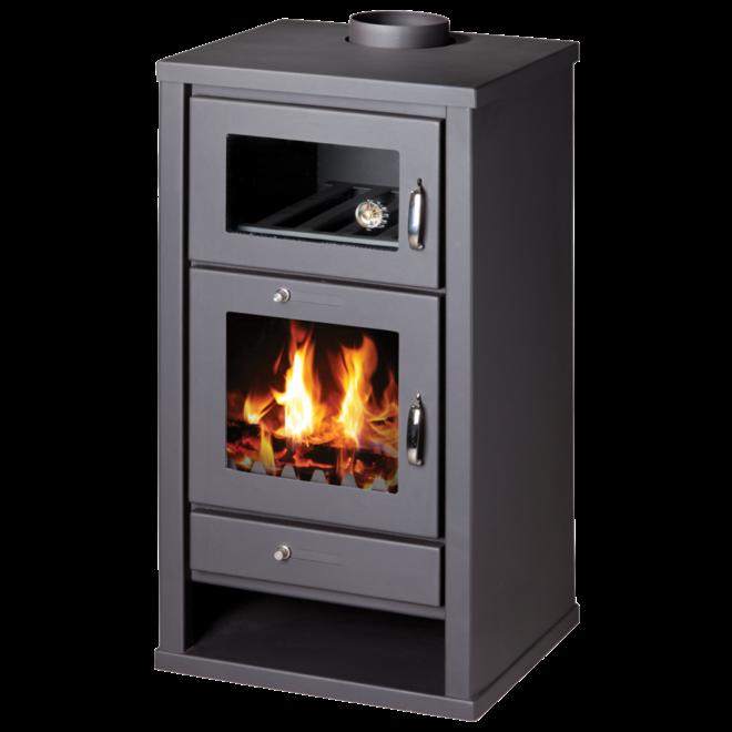 Heat Sirius oven-houtkachel 11 kW, incl. rookkanalen