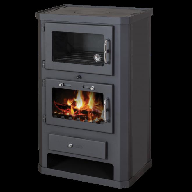 Comfort F vrijstaande houtkachel met oven (10 kW)