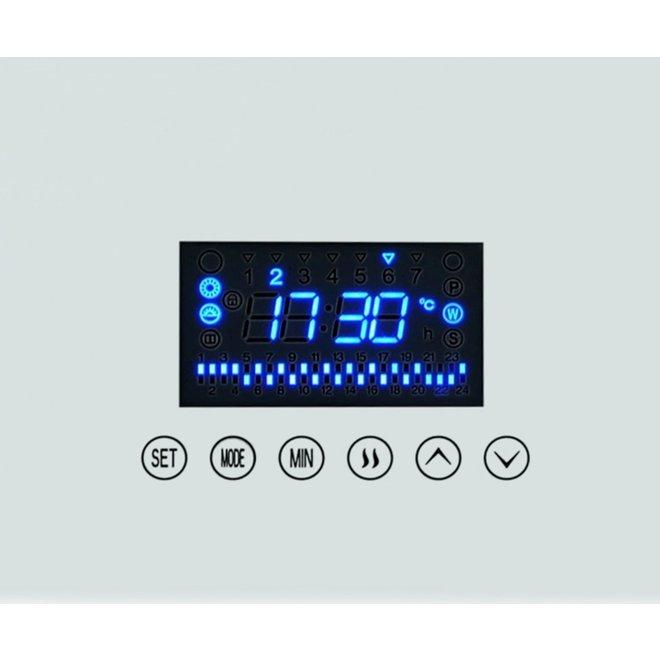 Compact design glas infrarood paneel 530Watt 60 x 70 cm met ingebouwde Wifi thermostaat QH42