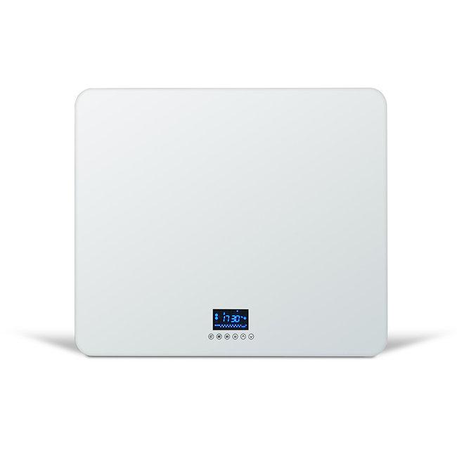 Quality heating Compact design glas infrarood paneel 530Watt 60 x 70 cm met ingebouwde Wifi thermostaat QH42