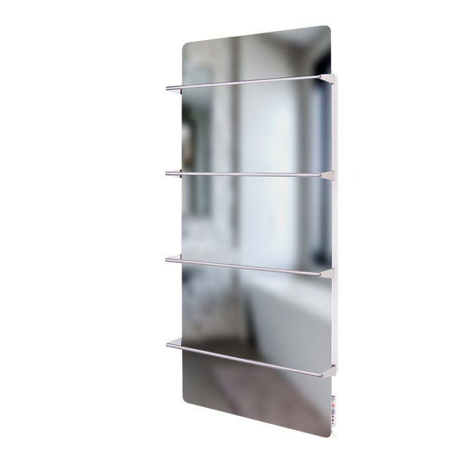 Spa Climate+ Spiegel infraroodpaneel met handdoekbeugel, 800 Watt, 120x60 cm