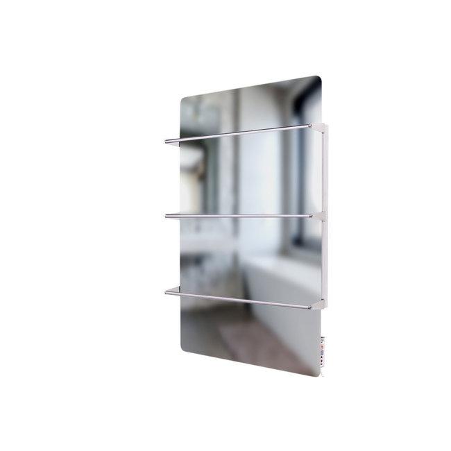 Green Hat Spa Climate+ Spiegel infraroodpaneel met handdoekbeugel, 600 Watt, 90x60 cm