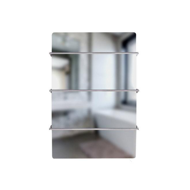 Spa Climate+ Spiegel infraroodpaneel met handdoekbeugel, 600 Watt, 90x60 cm