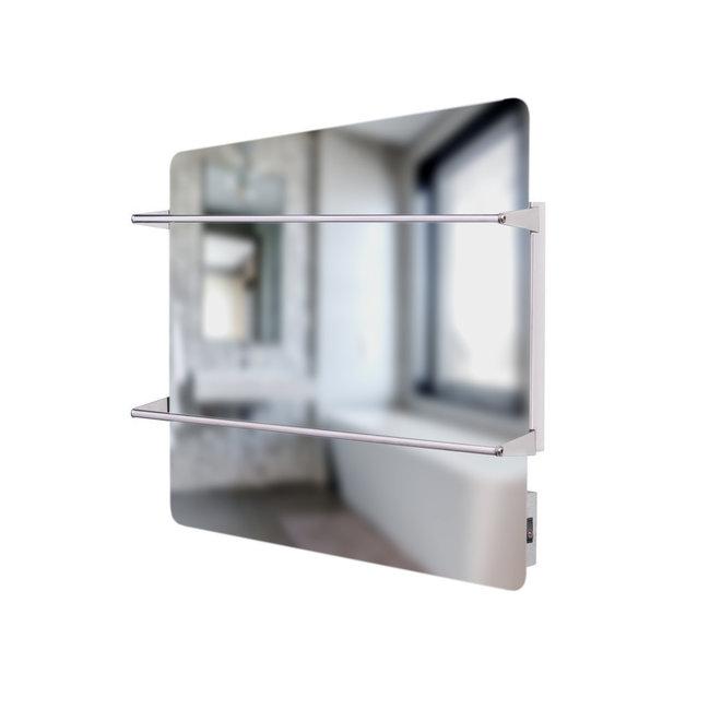 Spa Climate Spiegel infraroodpaneel met handdoekbeugel, 400 Watt, 60x60 cm