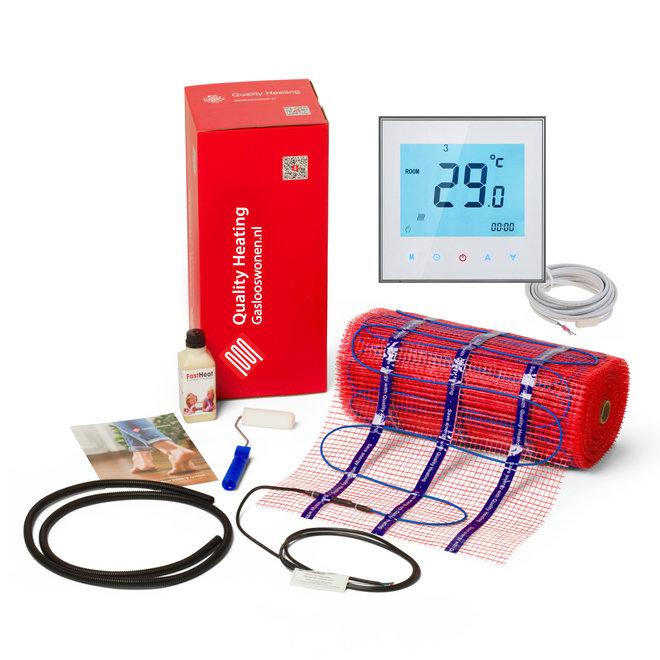 150 Watt/m2 mat set inclusief programmeerbare thermostaat