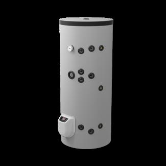 ELDOM Green Line 200L. Indirect gestookte boiler, 2 warmtewisselaars, elektrische bediening