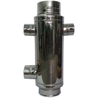 RVS (Hout)kachel warmtewisselaar 200mm