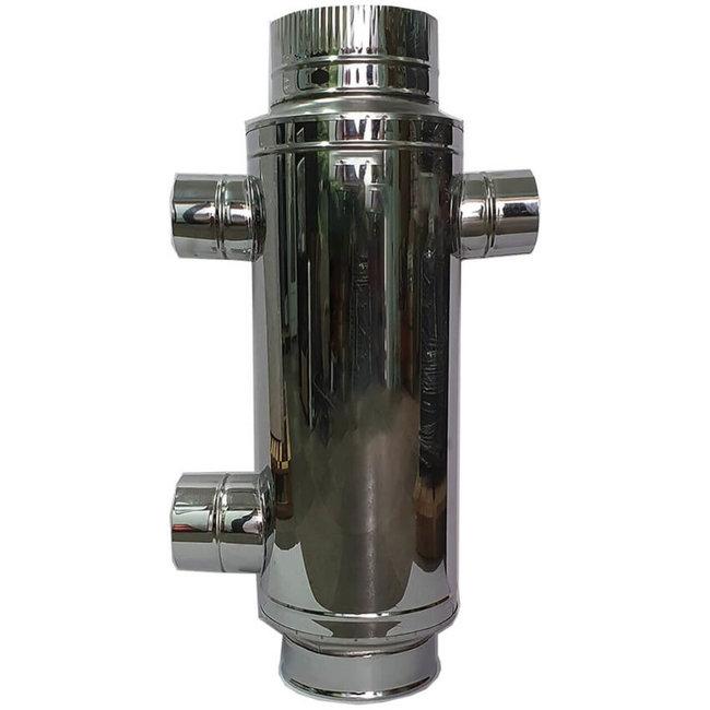 RVS (Hout)kachel warmtewisselaar (200mm)