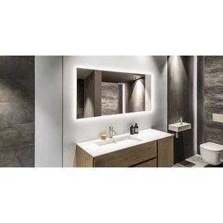 Quality heating Spiegel met led verlichting en infrarood verwarming (580 Watt)  60x 100cm
