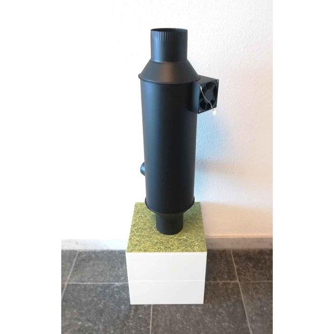 Vulkan (Hout)kachel warmtewisselaar met ventilator (150 mm)