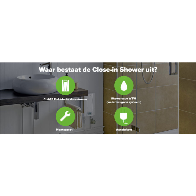 All-Electric Close-in Shower met WTW