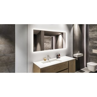 Quality heating Spiegel 700W, met led verlichting en infrarood verwarming  60x 120cm